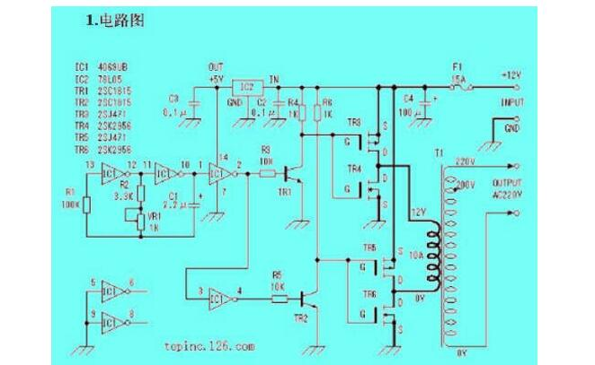 场效应管逆变器电路图大全(六款场效应管逆变器电路...
