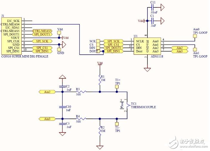 热电偶测温电路图大全(环路供电/传感器/OP07热电偶测温放大电路详解)