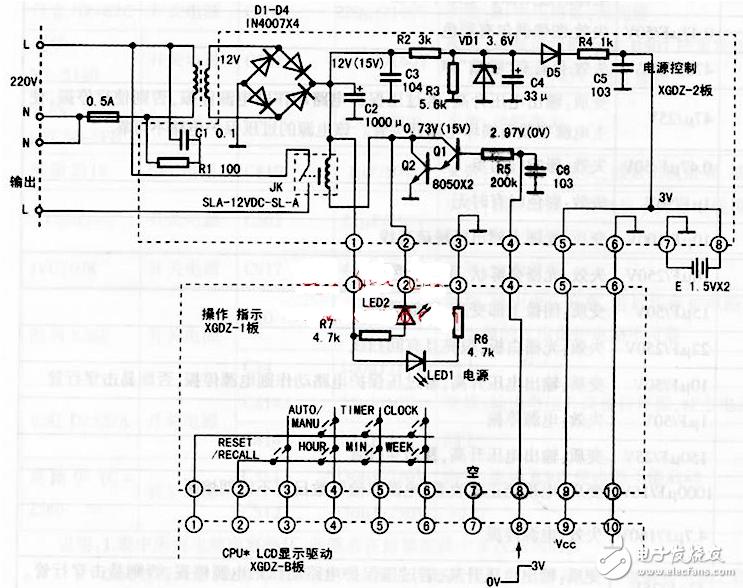 kg316t时控开关设置及接线_kg316t时控开关原理