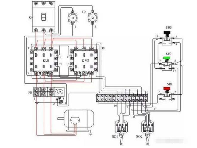(1)直动式行程开关其结构原理如图1所示,其动作原理与按钮开关相同,但其触点的分合速度取决于生产机械的运行速度,不宜用于速度低于0.4m/min的场所。    图1直动式行程开关(各序号表示的部件:1-推杆2-弹簧3-动断触点4-动合触点)   (2)滚轮式行程开关其结构原理如图1-25所示,当被控机械上的撞块撞击带有滚轮的撞杆时,撞杆转向右边,带动凸轮转动,顶下推杆,使微动开关中的触点迅速动作。当运动机械返回时,在复位弹簧的作用下,各部分动作部件复位。滚轮式行程开关又分为单滚轮自动复位和双滚轮(羊角