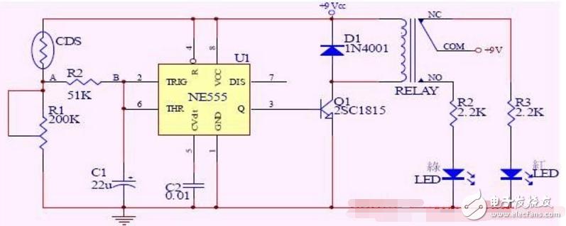 简单的路灯自控电路图大全(光控触发器/NE555/光电控制的七款电路详解)