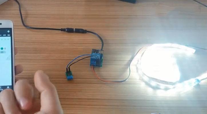diy物联网之实现敲击桌子控制led灯带