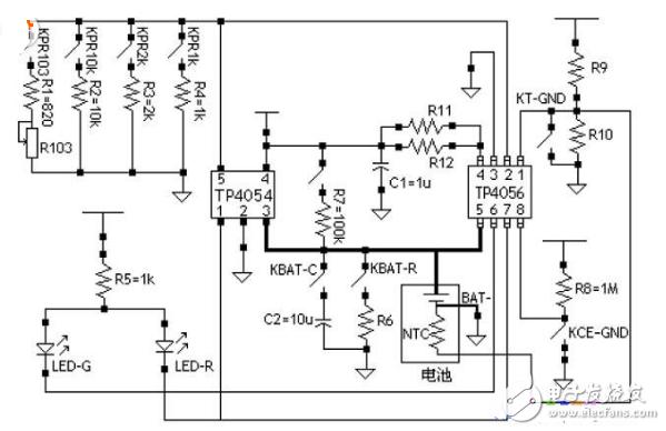 tp4056充电保护电路图(八款tp4056锂电...