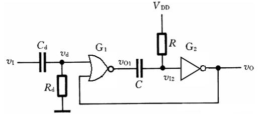 单稳态触发器电路图大全(555/LM324/晶体管/时基电路)