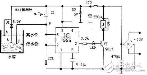 自动抽水控制器电路图大全(继电器/喷灌控制器/抽...