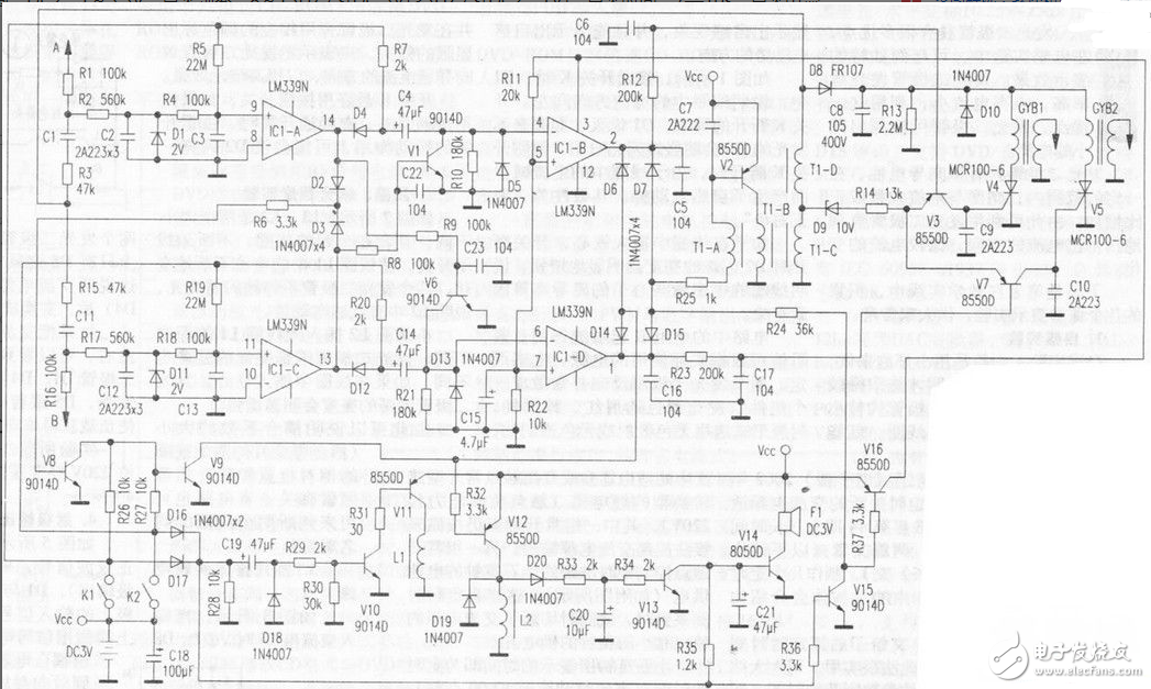 燃氣電子控制器電路圖大全(吸閥安全型燃氣/自動燃氣控制器)