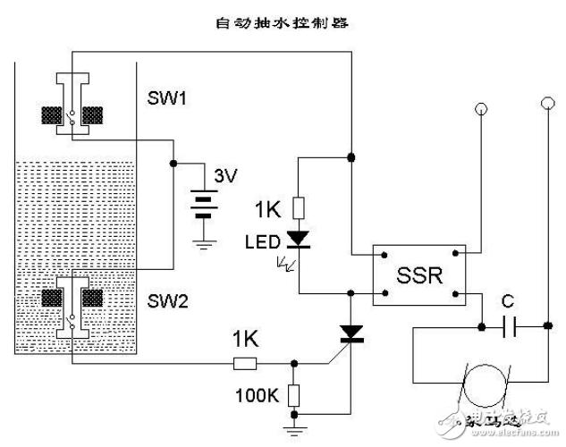 自动抽水控制器电路图大全(继电器/喷灌控制器/抽水机自动控制器)