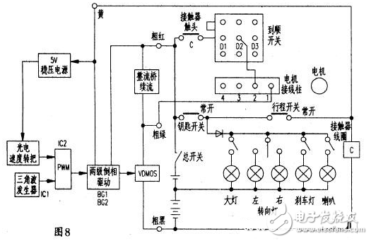 电动叉车控制器电路图大全(稳压电源/有刷控制器/89C2051控制器)
