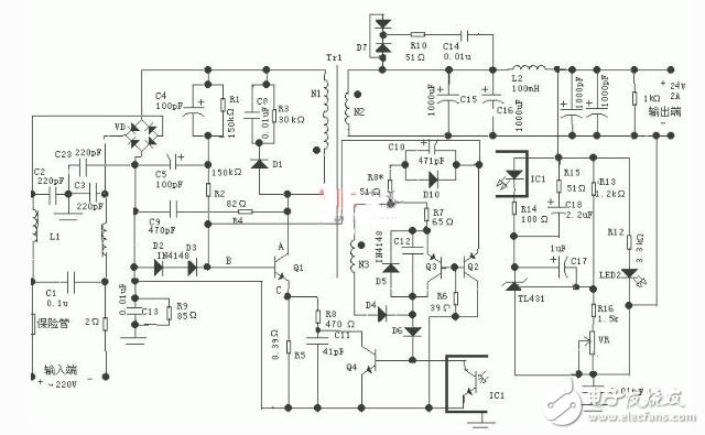 反激式开关电源电路图大全(高频变压器/反激式转换器