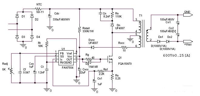 交流转直流电路图大全 逆变电源 升压电源 交流直流转换器