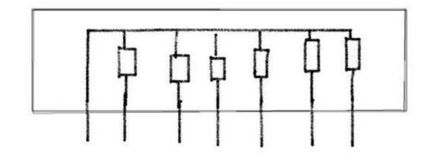 排阻引脚图及内部结构介绍