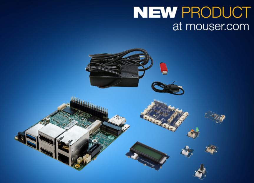 贸泽开售AAEON UP Squared Grove IoT开发套件 兼具Intel处理能力与Arduino易用性