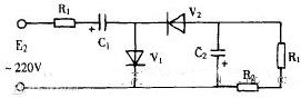 直流二倍压整流电路图(多谐振荡电路/时基电路NE555/变压器)