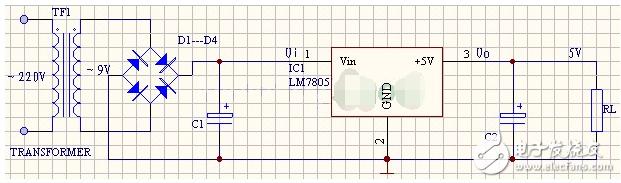 7805稳压电源电路图大全(集成稳压器/线性稳压...