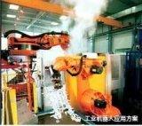 机动车铝制部件压铸机上的机器人能工作了!