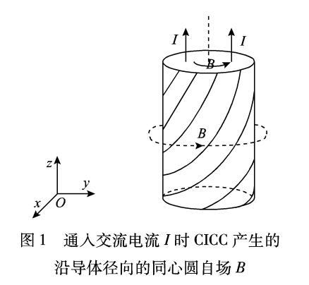 管内电缆导体传输交流损耗的理论计算和实验