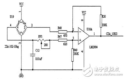 LM2904压力传感器检测电路