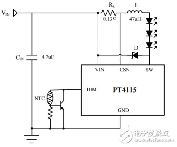 PT4115应用电路