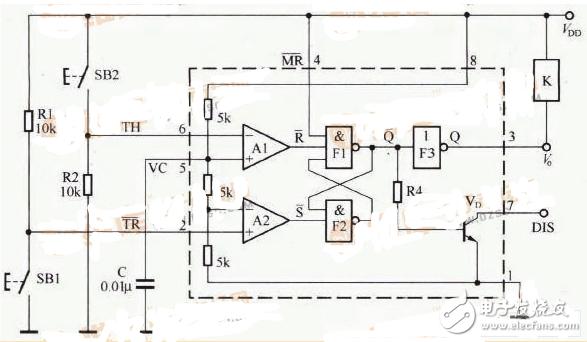 双稳态开关电路图大全(光电耦合器/晶体管/触发器)