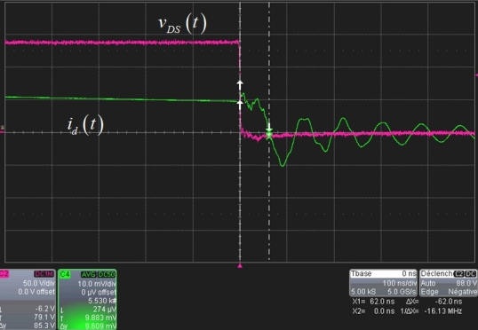 反激式转换器波形受到漏电感的影响