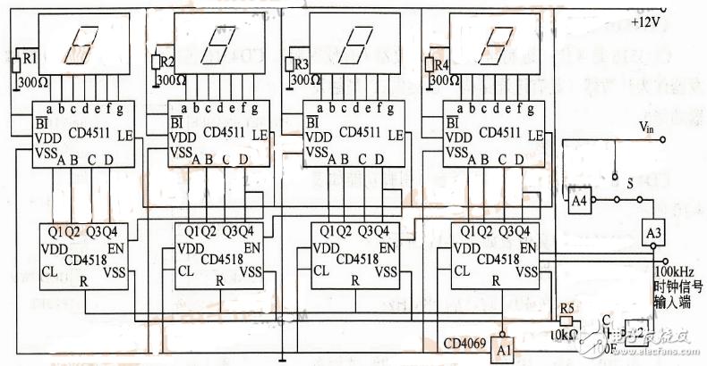 译码器数码管电路图大全(74HC138/CD45...