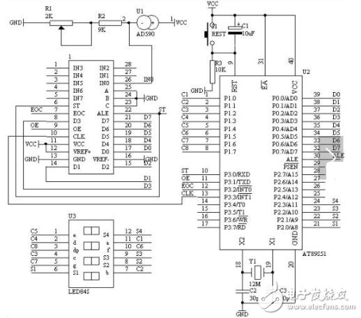 数显温度计设计电路图(五)图片