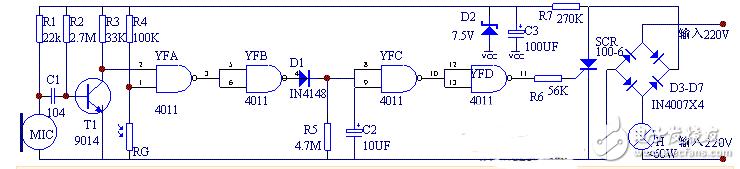 光敏电阻光控灯电路图大全(太阳能/晶闸管/光控开关)