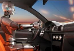 自动驾驶汽车由自动驾驶机器人系统操控
