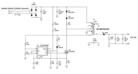 AC-DC应用中实现偏置电源的3种选项