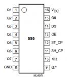 单片机芯片74HC595的引脚图详解