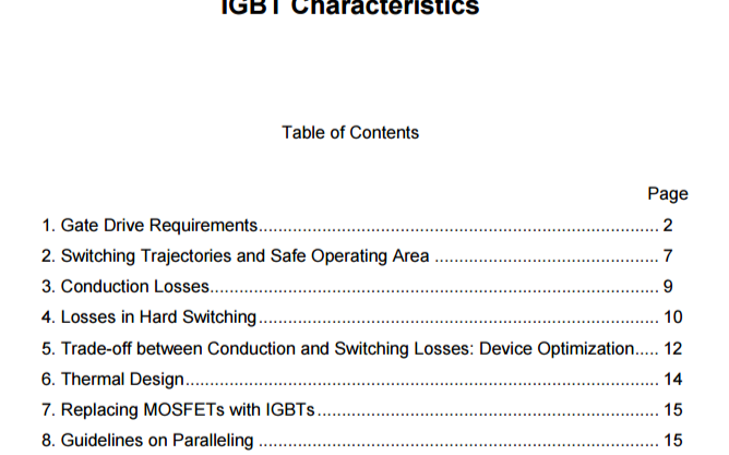 AN-990应用笔记之IGBT的特性