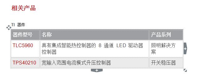 用于DTV和通用照明灯串的LED DCDC驱动器的一些资料