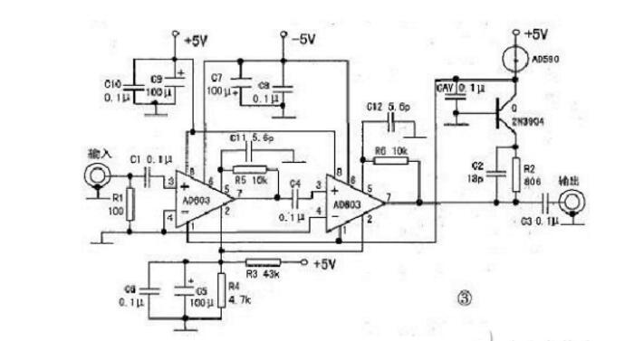 ad603应用电路图大全(ad603检测电路/放大电路/AGC电路)