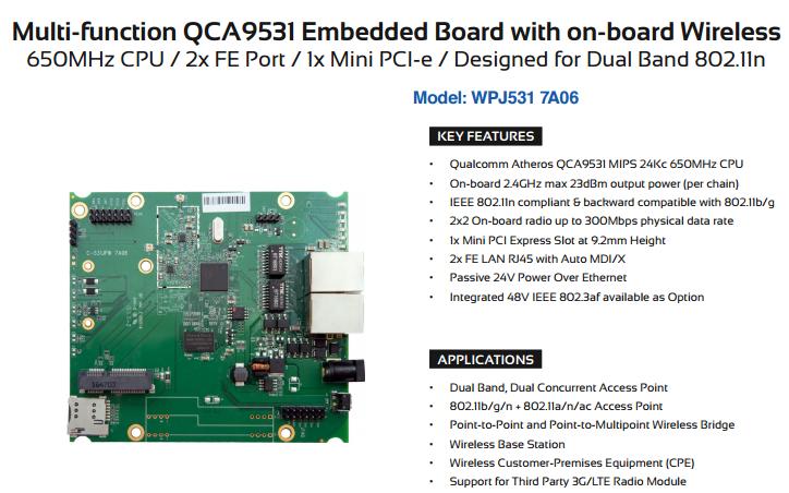 QCA9531方案双通道嵌入式无线AP模块应用选型参考-电子发烧友网