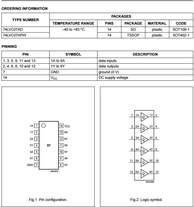 SN74LVC07APW 单片机电路常用驱动IC