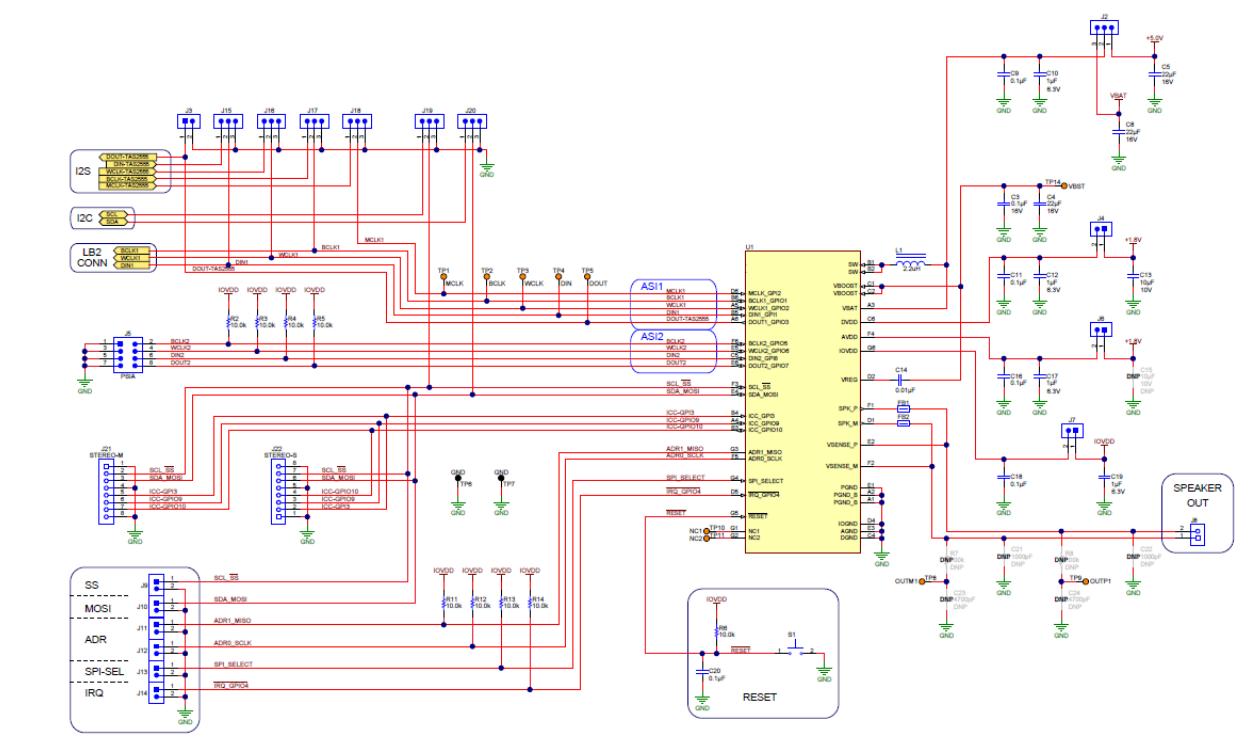 TAS2557测试电路