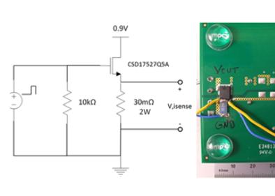 电源与规定的电流阶跃测试方案