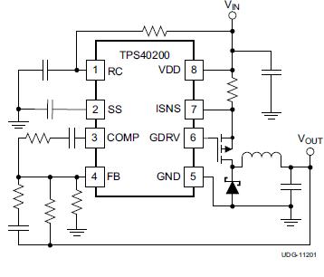 TPS40200宽输入范围非同步电压模式控制器的详细英文原版资料概述