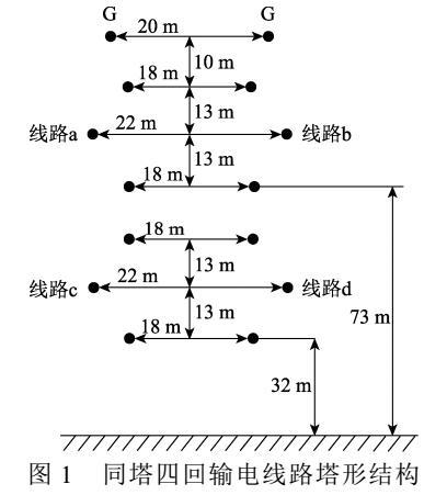 一种长距离同塔四回线路分布参数的测量方法