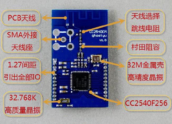 CC2540EM硬件详细中文资料概述
