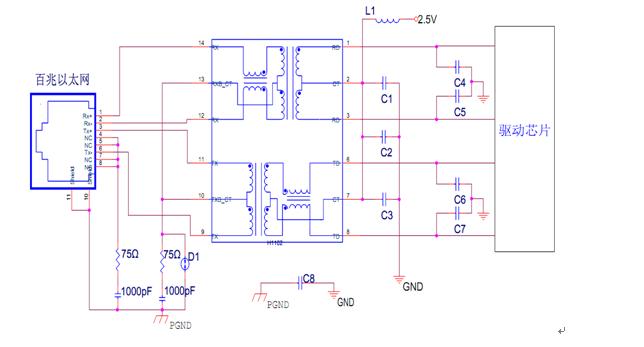RJ45以太网接口EMC设计方案