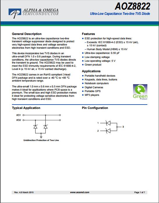 AOZ8822DI-05tvs二极管资料文档下载.pdf