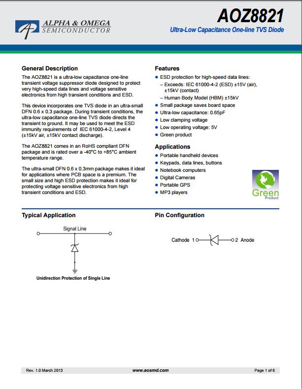 AOZ8821DI-05tvs二极管资料文档下载.pdf