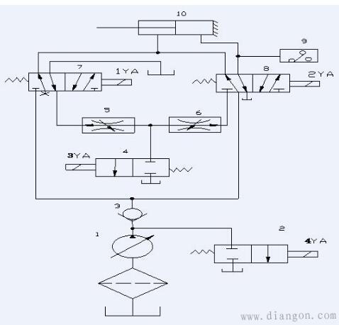 液压系统最简单原理图及常见故障分析