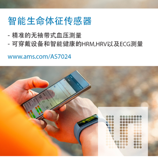 艾迈斯半导体推出适用于智能健康和可穿戴设备的血压...