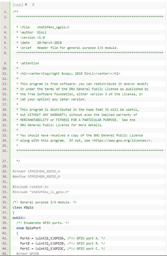基于STM32F4的 C++封装(完整代码)