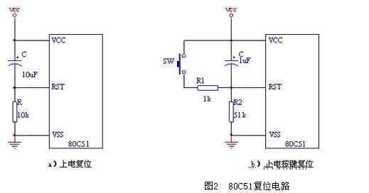 单片机内部复位电路图和上电复位电路图解析(六款单片机复位电路)