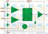555单稳态触发器电路分析图解