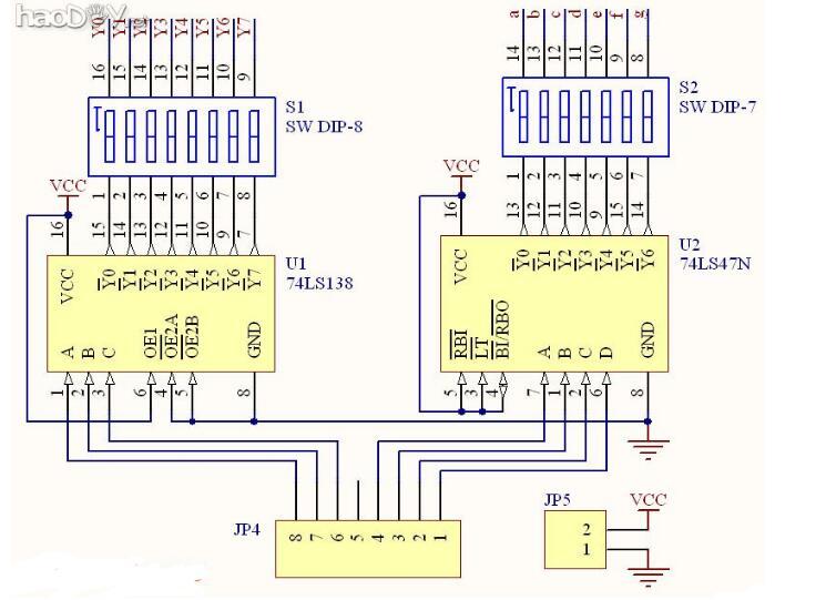 74ls47应用电路图大全(五款74ls47显示译码器电路/十进制计数器电路)