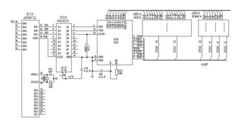 74ls273应用电路图大全(七款74ls273串行显示/共阳LED数码显示/端口扩展电路)